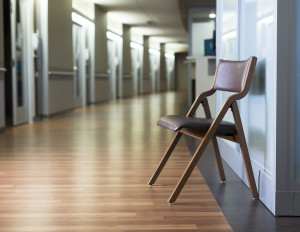 Plyfold folding chair in corridor