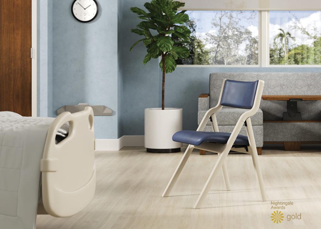 Perk folding chair, SleepToo® and Smartrail®