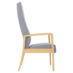Monroe Patient Chair, Wood Arm, High Back