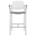 Upland Bar Stool with Arms, Uph Seat, Plastic Back